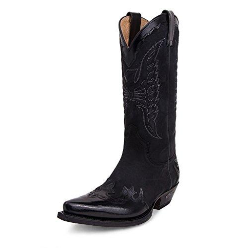 Sendra Boots - 2560 Corvo Flora Nero-Nobuk Nero.