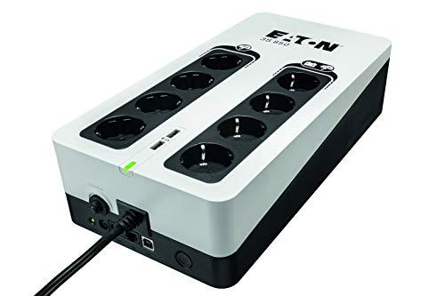 Eaton 3S UPS 850VA - 3S850D - Gruppo di continuità (UPS) - 8 prese DIN - Porta USB - Off-Line - bianco e nero