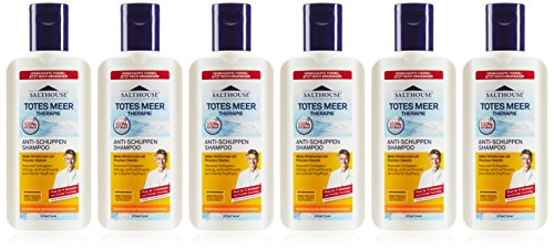 Lanosan Salthouse Totes Meer Therapie-Shampoo Anti-Schuppen, 250 ml, 6er Pack (6 x 250 ml)