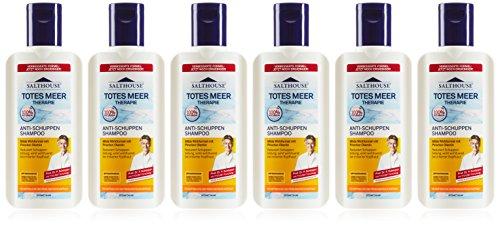 Lanosan Salthouse Totes Meer Therapie-Shampoo Anti-Schuppen, 250 ml, 6er Pack (6 x 250 ml)