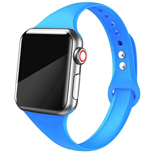 Correa para Apple Watch band 44 mm 40mm iWatch band 38mm 4mm Silicona Pulsera delgada Correa de reloj para Apple Watch 6/5/4/3/40 38 44 mm