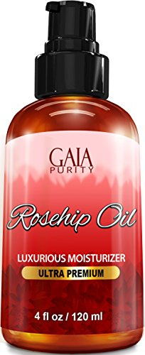 Rosehip Oil, Large 4oz - All Natural, Best Moisturizer for Face, Hair & Body to Help Heal Dry Skin,...