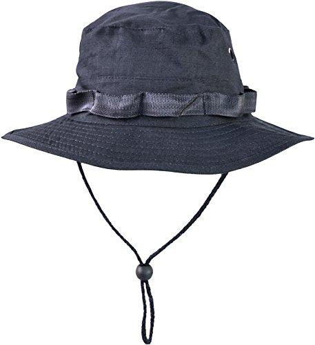 normani Australian Outdoor Hut Boonie Hat in vielen Farben und Grössen Farbe Marine Größe XL