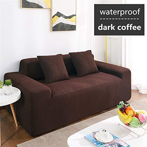 Rowe Impermeable elástico con Todo Incluido Cuatro Estaciones Universal Moderna Simple de IKEA Tejido de Red Red Dust Cover Cubierta calesa del salón (Color : Dark Coffee, 规格 : 3 Seat 180 230cm)