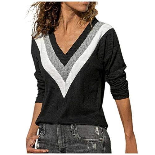 MRULIC Damen Kurzarm T-Shirt Rundhals Ausschnitt Lose Hemd Pullover Sweatshirt Oberteil Tops(B-Gelb,EU-50/CN-5XL)