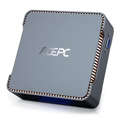 ACEPC GK3 ミニPC 8GB DDR4 256GB SSD ミニパソコン インテル Celeron J4125 プロセッサー 4コア(最大2.7GHz)、Windows 10 Pro、mini pc、デュアルWiFi2.4G/5G、BT4.2 4K HD 3つのディスプレイ出力に対応 小型pc