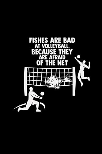 Fishes are bad at volleyball: 6x9 VOLLEYBALL | grid | squared paper | notebook | notes