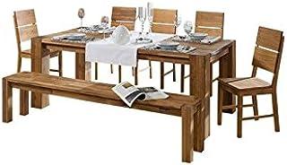 Table à manger 140x90cm - Bois massif de Chêne Sauvage huilé - BERLIN