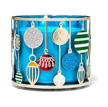 Bath and Body Works Ornament 3 Wick Candle Holder.