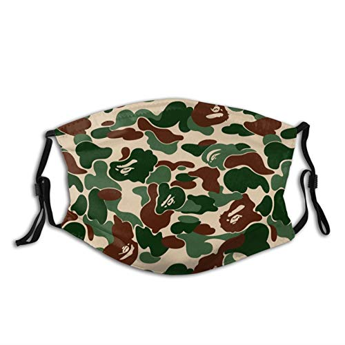 Comfortable Windproof mask,Bape Camo,Printed Facial decorations for adult