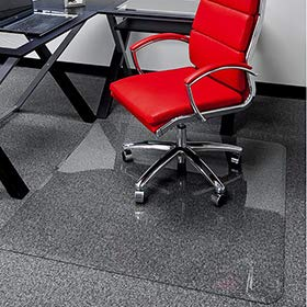 36' x 46' - Premium Glass Chair Mats | No Crack, Dent or Scratch | for Carpet or Hard Floor | Exclusive Beveled Edges