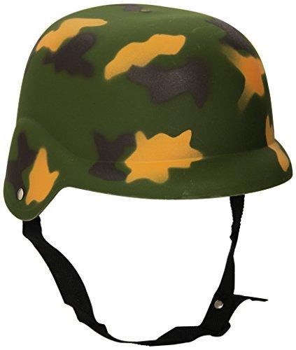 Guirca - Casco de camuflaje para disfraz, color verde militar, único, 13982