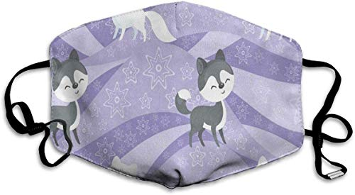 Dustproof Washable Reusable Husky Dog and Polar Fox Mouth Cover Mask Germ Protective Safety Warm Windproof Mask