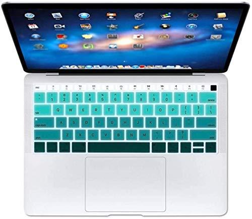 Who-Care Engels Taal Toetsenbord Cover Voor Macbook Voor Air 13 2018 Water Stofbestendig Geleidelijke Wijziging Kleuren, Gradient 134 size Gradientgroen