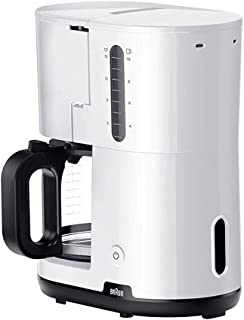 Braun Breakfast1 Filter Coffee Maker AromaCafe OptiBrew System Automatic Shut Off Coffee Maker for up to 10 Cups Dishwashe...