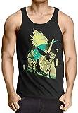 style3 VII Fantasy Battle Camiseta de Tirantes para Hombre Tank Top T-Shirt Avalanche Sephiroth PS iOS japón, Talla:M