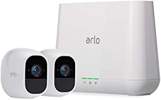 Arlo Pro 2 - 2 Camera System, Work with Alexa, Inbuilt alarm siren, Rechargeable, Wire-Free, 1080p HD, Audio, Indoor/Outdo...