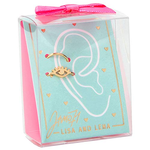 Depesche 10527 oorbellen om te klemmen Lisa en Lena J1MO71, gesorteerd in zilver en goud, kleurrijk