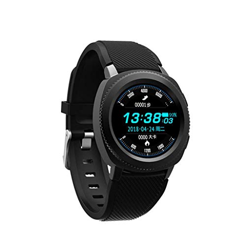For Sale! DSWDA Smart Watch IP68 Swimming Step Counter Intelligent Bracelet Exercise Heart Rate Blood Pressure Sleep Monitoring Call (Color : Black)