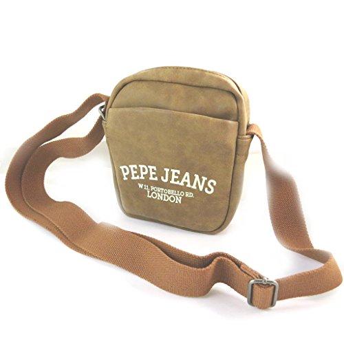 Pepe Jeans [N6065 - Sac bandoulière marron vintage - 23.5x19x7 cm
