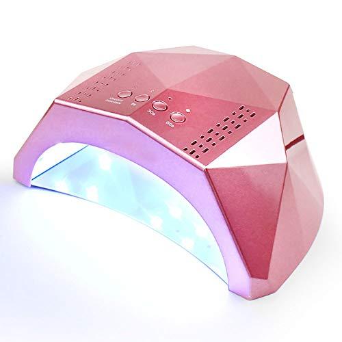 QWER Secador de uñas de manicura máquina Inteligente fototerapia 24w / 48w Interruptor Tercera Marcha 5s temporización de Secado rápido 30 Granos de la lámpara Fuente de luz Dual,Rosado