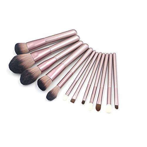 GBY Lot de 12 pinceaux de maquillage professionnels pour le visage, le fond de teint, le mélange de poudre, les correcteurs pour les yeux, les cosmétiques