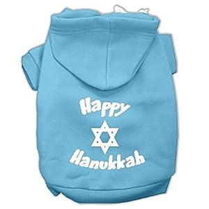 Mirage Pet Products Happy Hanukkah Screen Print Pet Hoodies