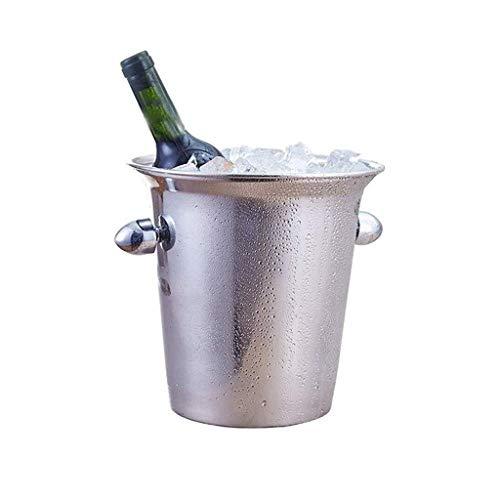 XZHSA Edelstahl Isolierte Eiskübel Walled Silber Barware Servierware for Parties Events Lagenzählung Wein-Kühler, Bier-Wanne oder Eisschrank