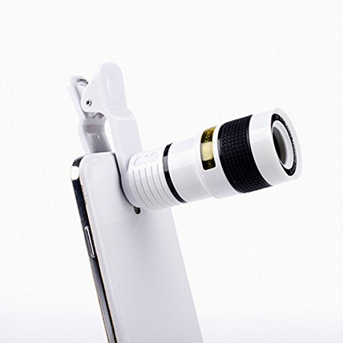 GPC Telescope - mobile telescope head - universal universal adult single-lens telescope high-definition can be connected to mobile phone night vision,white,telescope