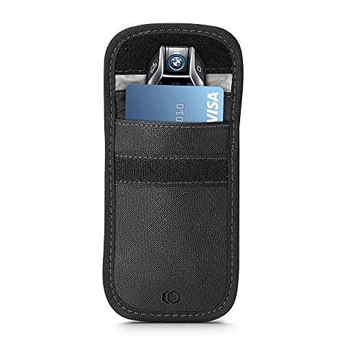 Tech-Protect V1 Keyless Go - Funda protectora para llave de coche, RFID, color negro