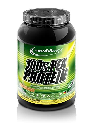 IronMaxx 100 % Pea Protein - Veganes Erbsenproteinpulver in Erdnussbutter - 1 x 900 g Dose