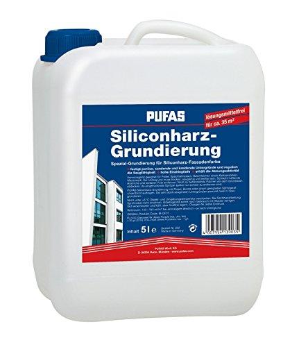 Pufas Siliconharz-Grundierung 5 L für Silikonharz-Fassadenfarbe Fassaden-Grund