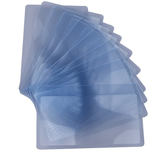 demiawaking 10pcs tamaño de una tarjeta de Crédito Lupa 3X aumentos Lupa Lente de Fresnel