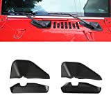 LZTQ Front Wiper Base Decoration Cover Stickers for Jeep Wrangler JK 2007-2017 Car Exterior Accessories Car Styling ABS Matte Black