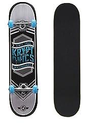 top 10 roller derby skateboards Cryptonics Drop-in Series 31inch Skateboard Blue Flag