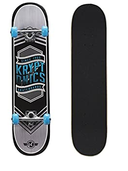 Kryptonics Drop-In Series 31  Complete Skateboard Flag Blue  163684