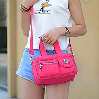Fashion Single-Shoulder Bags Leisure Fashion Nylon Waterproof Slant Shoulder Bag(Magenta) (Color : Magenta)