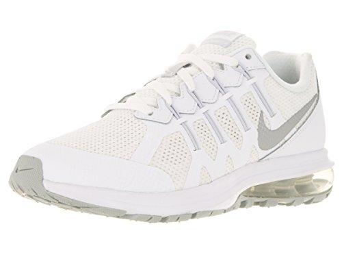 Nike Air Max Dynasty (GS) - Scarpe da Corsa, Bambini, Colore Bianco (White/Metallic Silver-Pure Platinum), Taglia 37 1/2