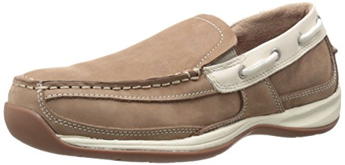 Rockport Work Women's Sailing Club RK673 Work Shoe, Tan/Cream, 8 M US
