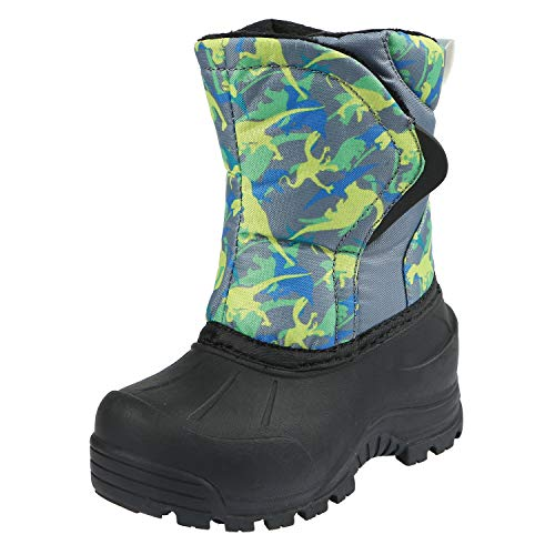 Northside Boys' FLURRIE Snow Boot, Gray/Volt, 9 Medium US Toddler