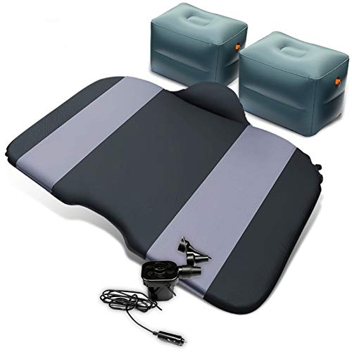 MCYAW Auto Reisebett Luftmatratze Aufblasbare Bett Automobil Hinterer Zeile Camping Schlaflohn-Floatation Sofa SUV Automatisches Airmating-Pad (Color Name : Grey)