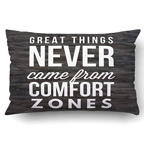 okstore1988 Funda de almohada decorativa para dormitorio, sofá, decoración del hogar, citas motivacionales inspiradoras, sabiduría positiva, potenciando el éxito, reina, 45,7 x 45,7 cm