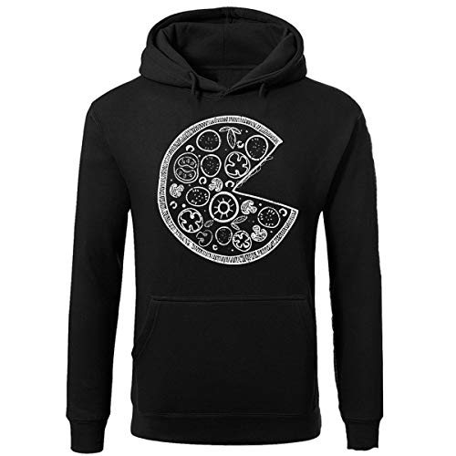 SR Pizza Missing Slice -Matching Couple Pullover Hoodie Black | XX-Large-Missing Slice ONLY