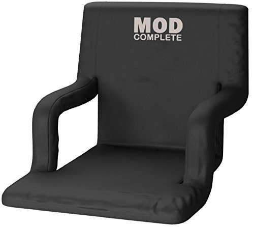EXTRA WIDE Stadium Chair Seat for Bleachers or Benches - Enjoy Padded Cushion Backs and Armrest Support - 6 Reclining Custom Fit Sport Positions - Portable with Easy to Carry Backpack Straps