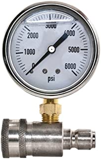 Ar New Stainless Steel Adaptor & Pressure Gauge Kit for Pressure Washers