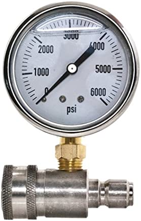 New Stainless Steel Adaptor and Pressure Gauge Kit for Pressure Washers