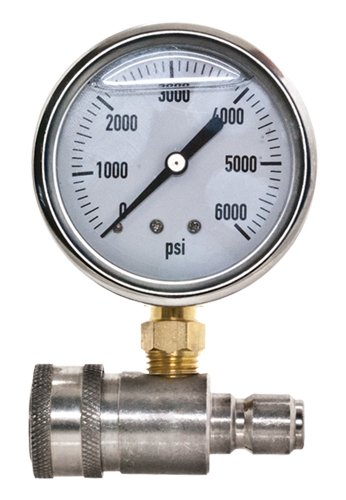 Ar New Stainless Steel Adaptor & Pressure Gauge Kit for Pressure Washers