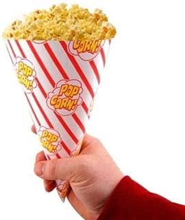 Gold Medal Cone-O-Corn Popcorn Cones - Box of 250