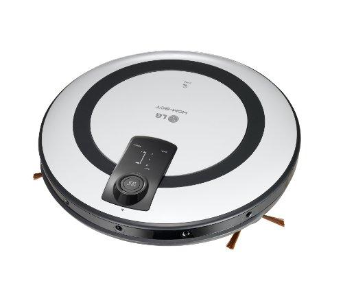 LG Hom-Bot VR5943 Roboterstaubsauger (3 Stufen, Intelligente Raumerkennung, Anti-Stoßkontrolle) weiß/schwarz