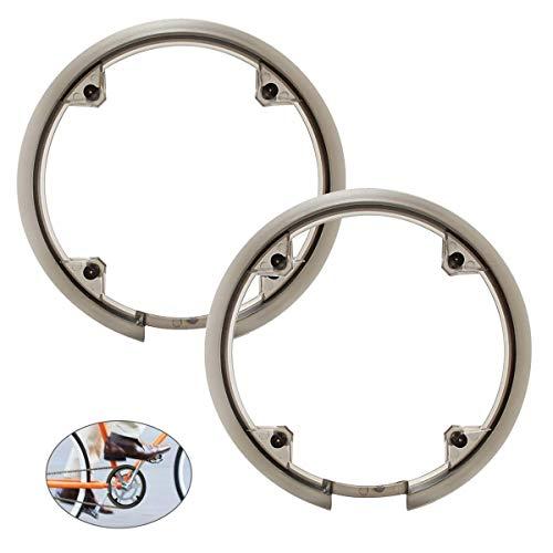 Tianher Fahrrad Kettenschutzring, 2 Stücke Fahrrad-Kettenschutz mit Abdeckung Kettenschutz Bash Schutz Schützt das Fahrrad Befestigungsmaterial.